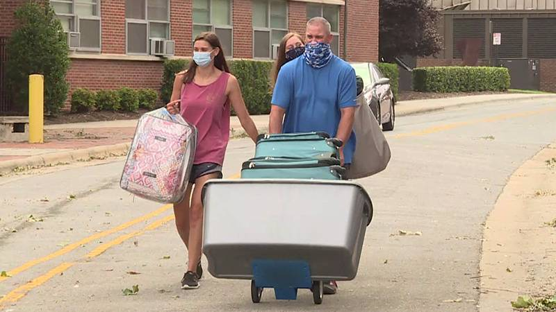 ECU is doing a rolling move-in with fewer people at a time.