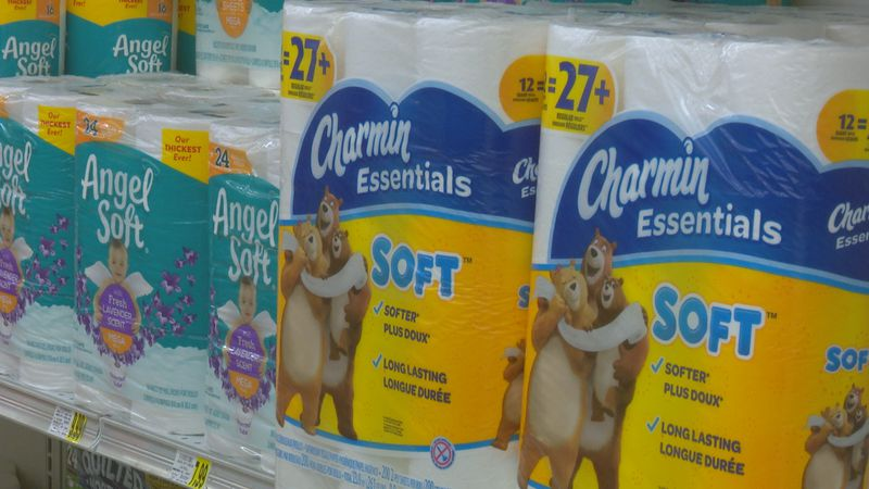 Toilet paper in stock at Piggly Wiggly in Greenville.