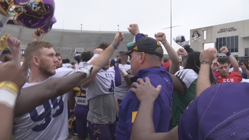 ECU Football 1st 2021 Spring Practice at DFS
