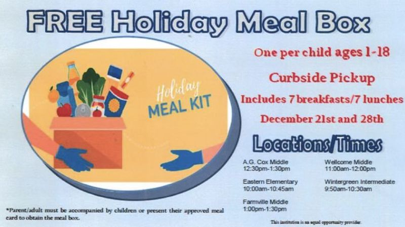 Free meals available for children.