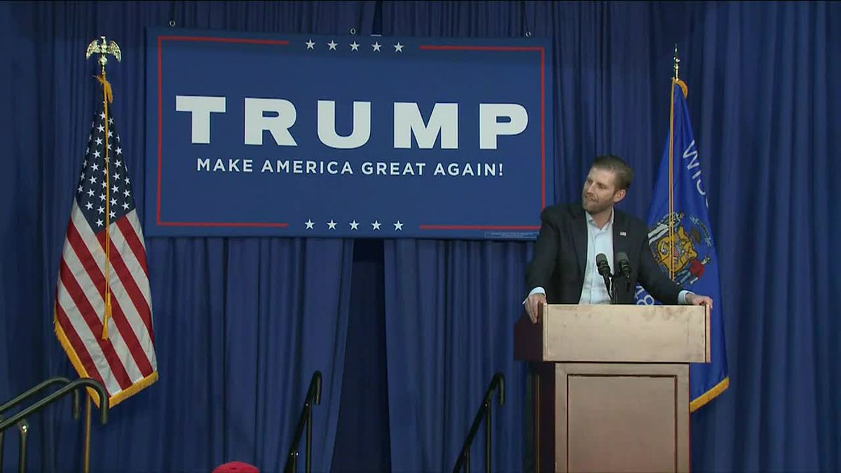 Eric Trump will be in Monroe, in the Charlotte metropolitan area, for a Make America Great Again event at 3:30 p.m.