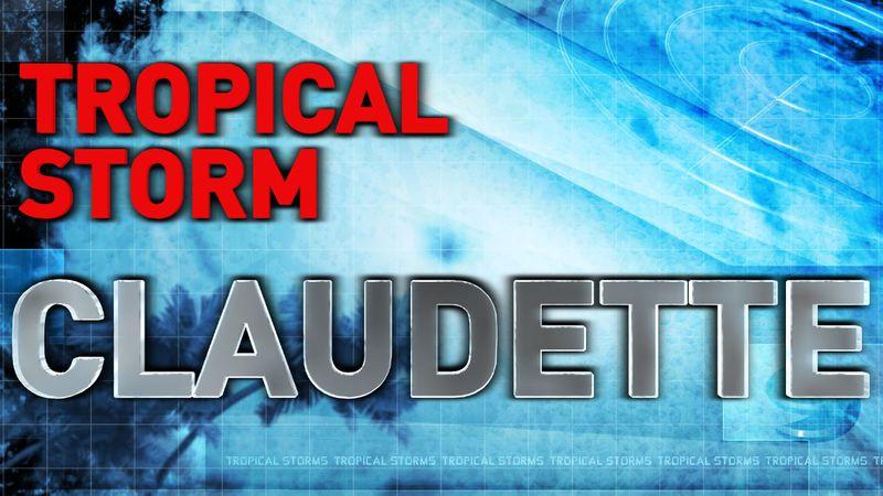 Title image for Tropical Storm Claudette story