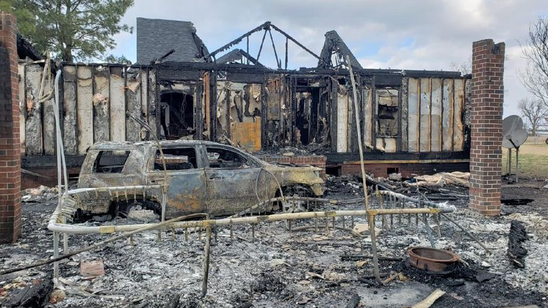 A family in Albertson has lost their home to a Christmas morning fire.