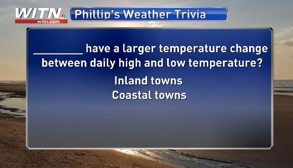 Phillip's Weather Trivia Question July 20