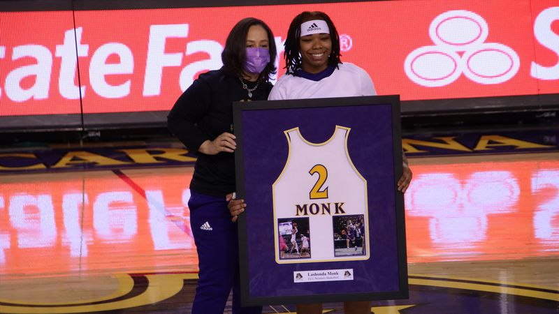 Lashonda Monk - ECU WBB Senior Day