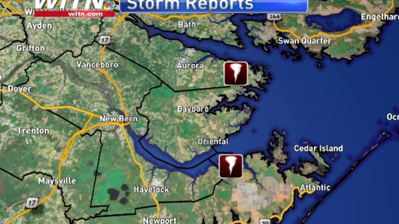 Two tornadoes have been confirmed to touchdown Thursday night and Friday morning.