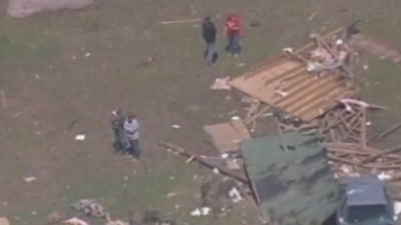 Aerial look at tornado damage in Bertie County in 2011.