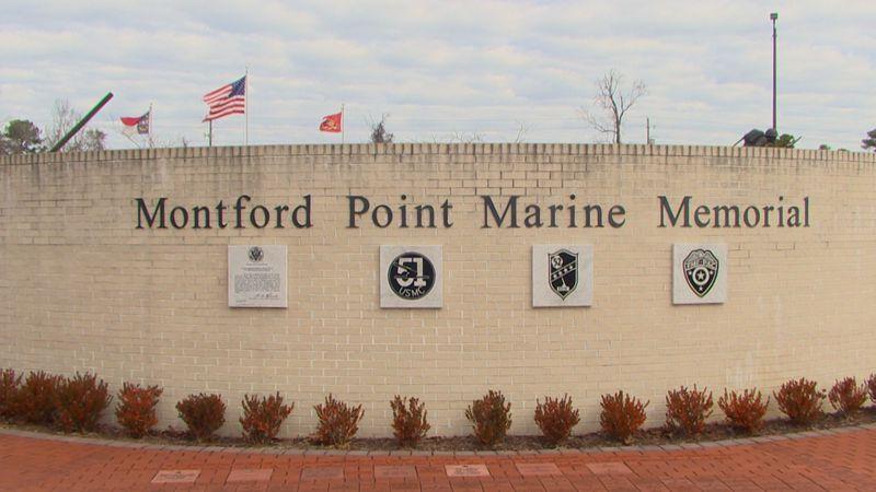 The Montford Point Memorial in Jacksonville, North Carolina.