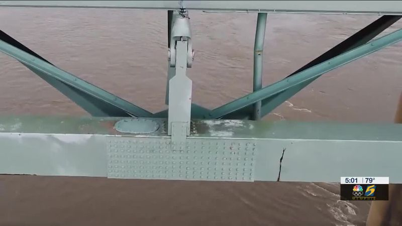 A crack on the I-40 bridge over the Mississippi River was missed because the inspector failed...