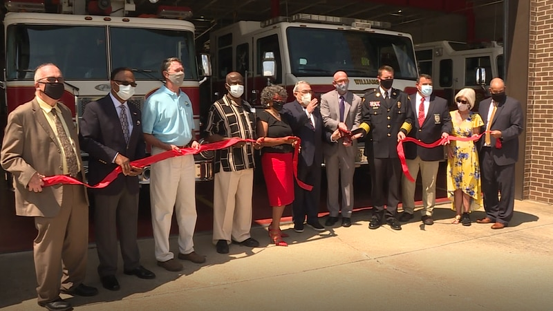Ribbon-cutting held for Williamston Fire Station renovations.