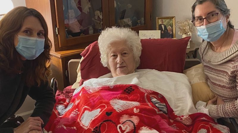 Barbara Cherry, 90, returns home to her two daughters in Elizabeth City after nearly a month...