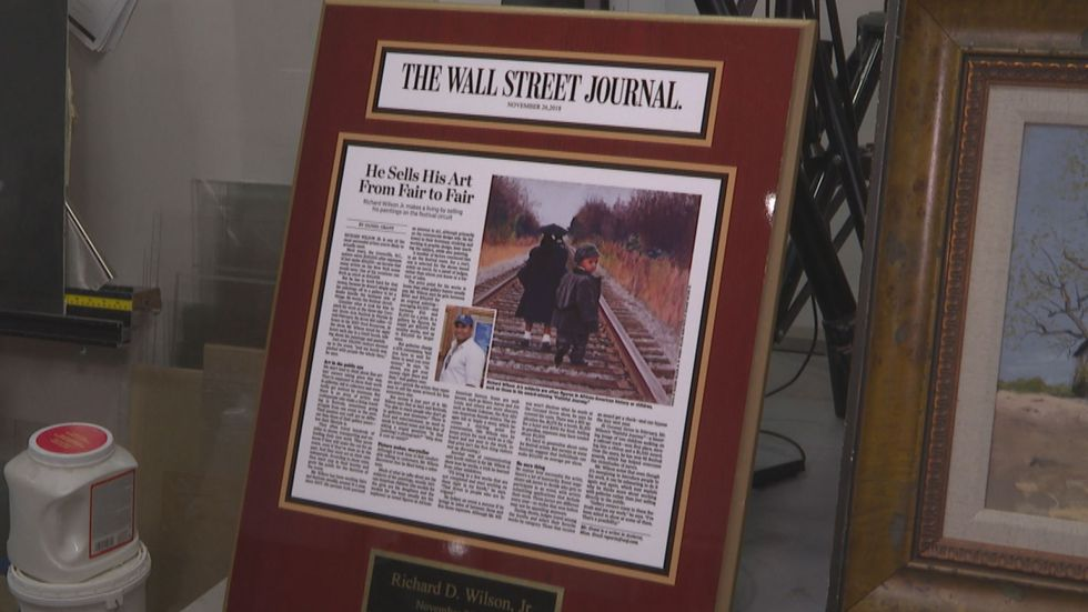 Richard Wilson had a painting featured in the Wall Street Journal.