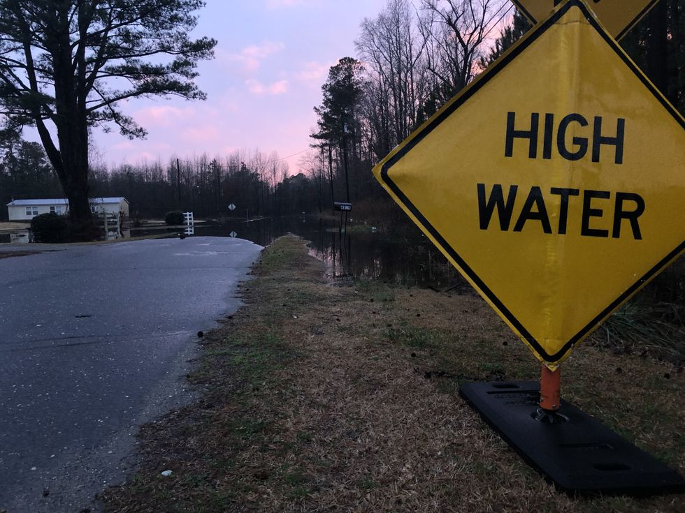 Flooding along Poplar Tree Drive in Grifton
