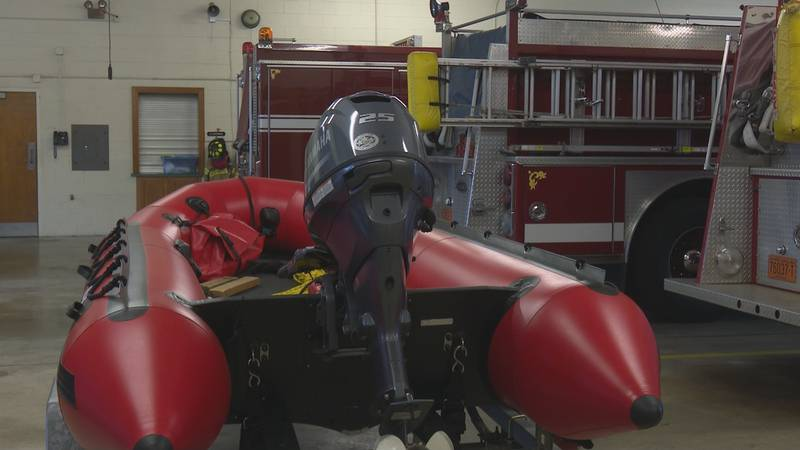 Tarboro Fire Dept. has two boats for swift water rescues.
