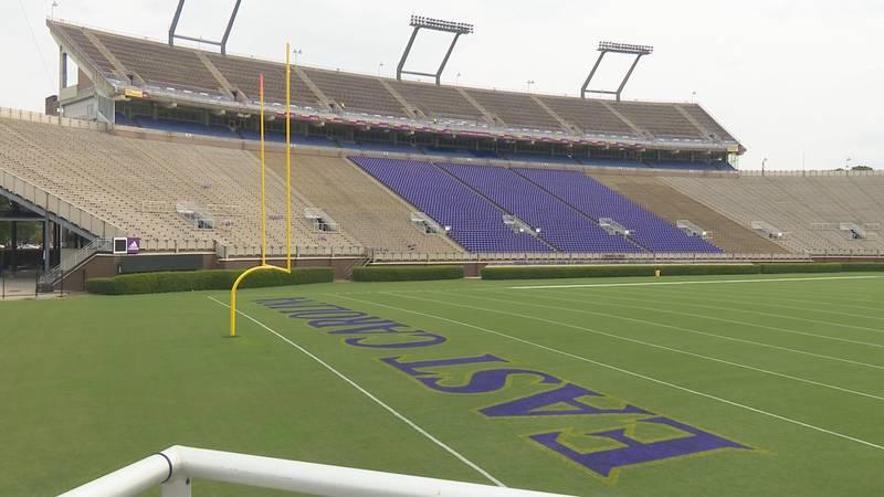 Dowdy-Ficklen Stadium at East Carolina University.