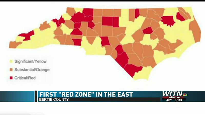Bertie County health professionals respond to 'red zone' designation
