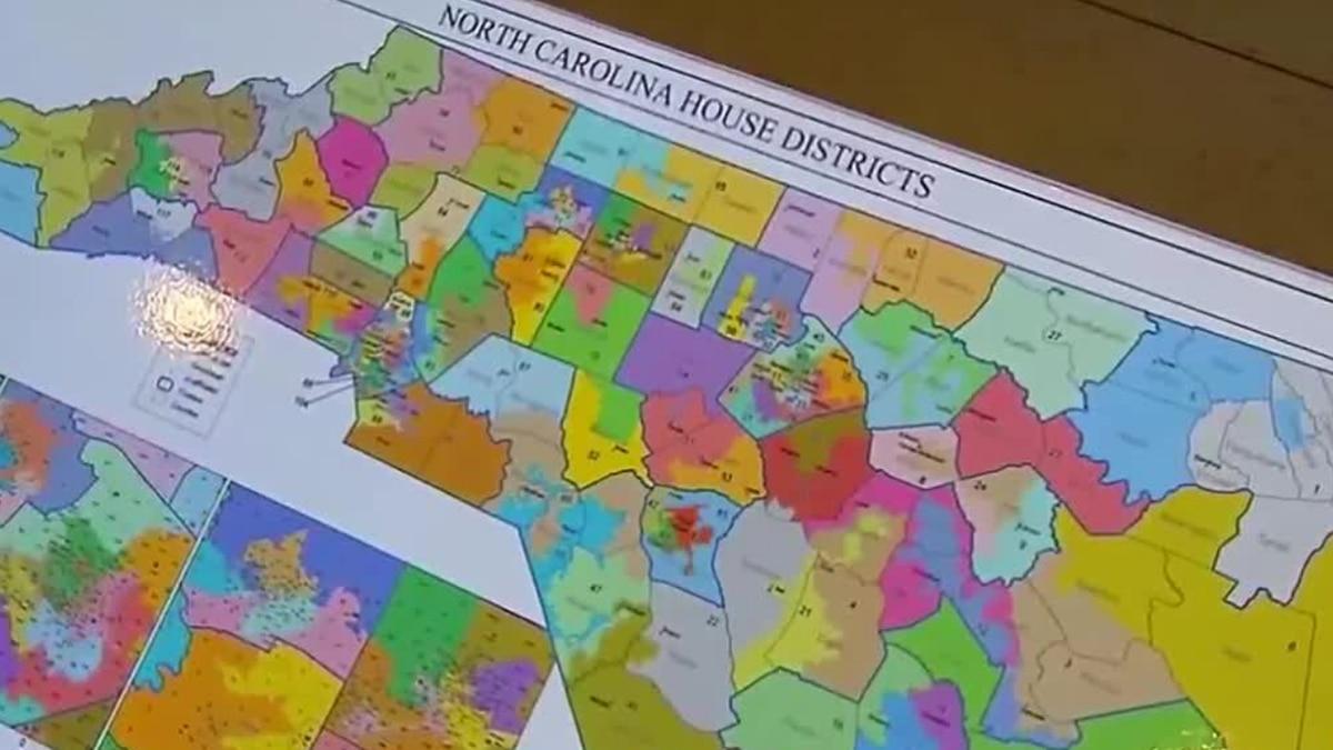 NC redistricting map
