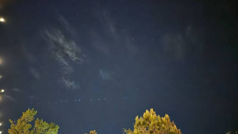 SpaceX Starlink Satellites over Greenville, NC