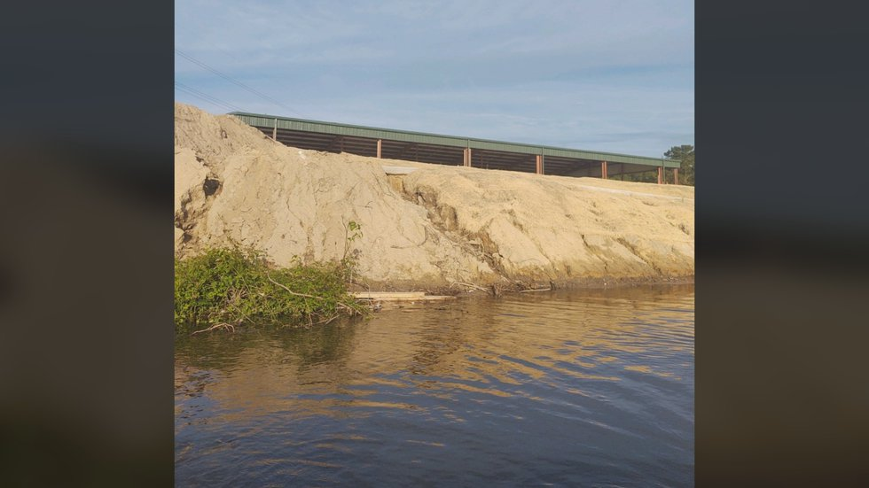 Photos of phase one construction of Wildwood Park in July show a hillside that Sound Rivers was...