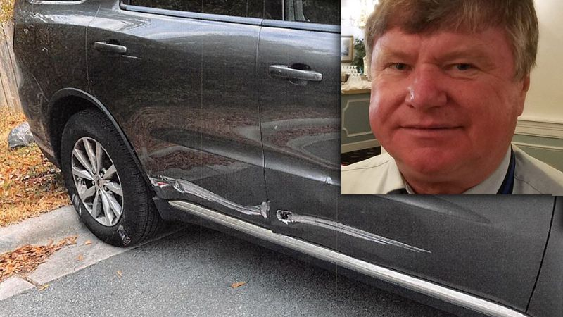 Sheriff Hans Miller said he damaged his county vehicle on February 9th on a Jacksonville city...