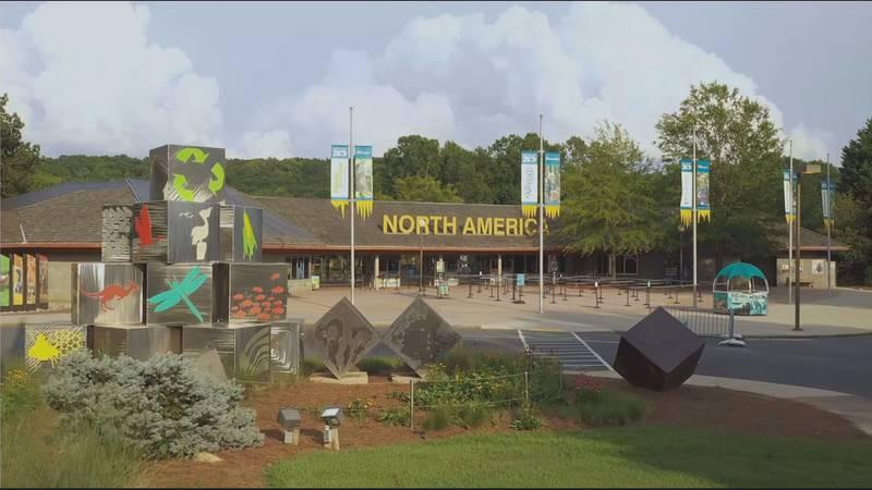 Entrance to North Carolina Zoo in Randolph County