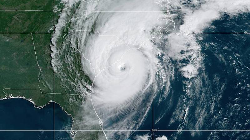 Hurricane Dorian moves up the Atlantic seaboard.
