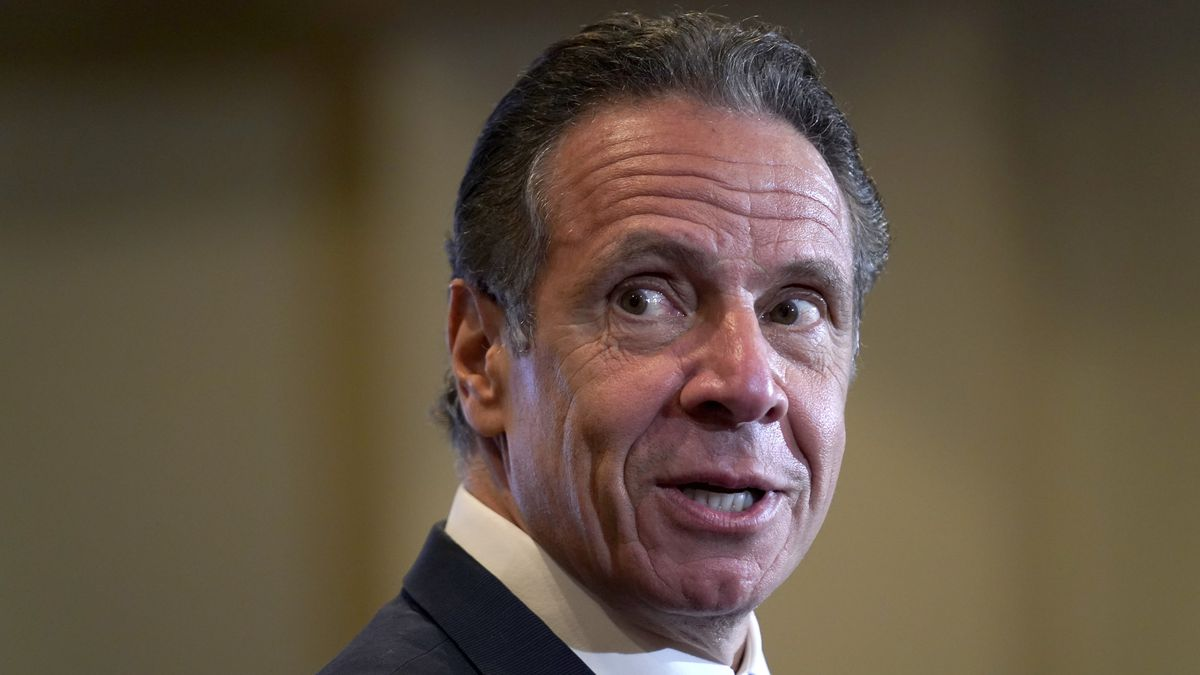 Gov. Andrew Cuomo speaks at Grace Baptist Church, a new pop-up vaccination site, in Mt. Vernon,...