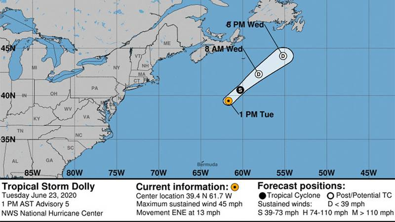 Tropical Storm Dolly weakens to a tropical depression