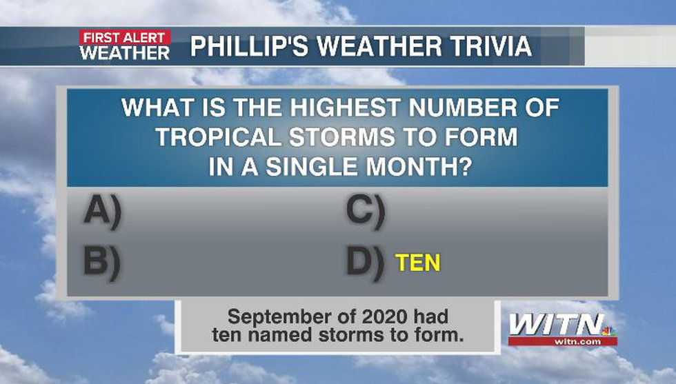 Phillip's Weather Trivia Answer Aug 27