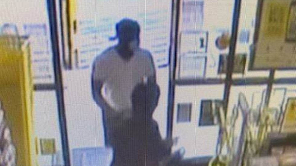 Deputies say the robber wears a size 13 shoe.