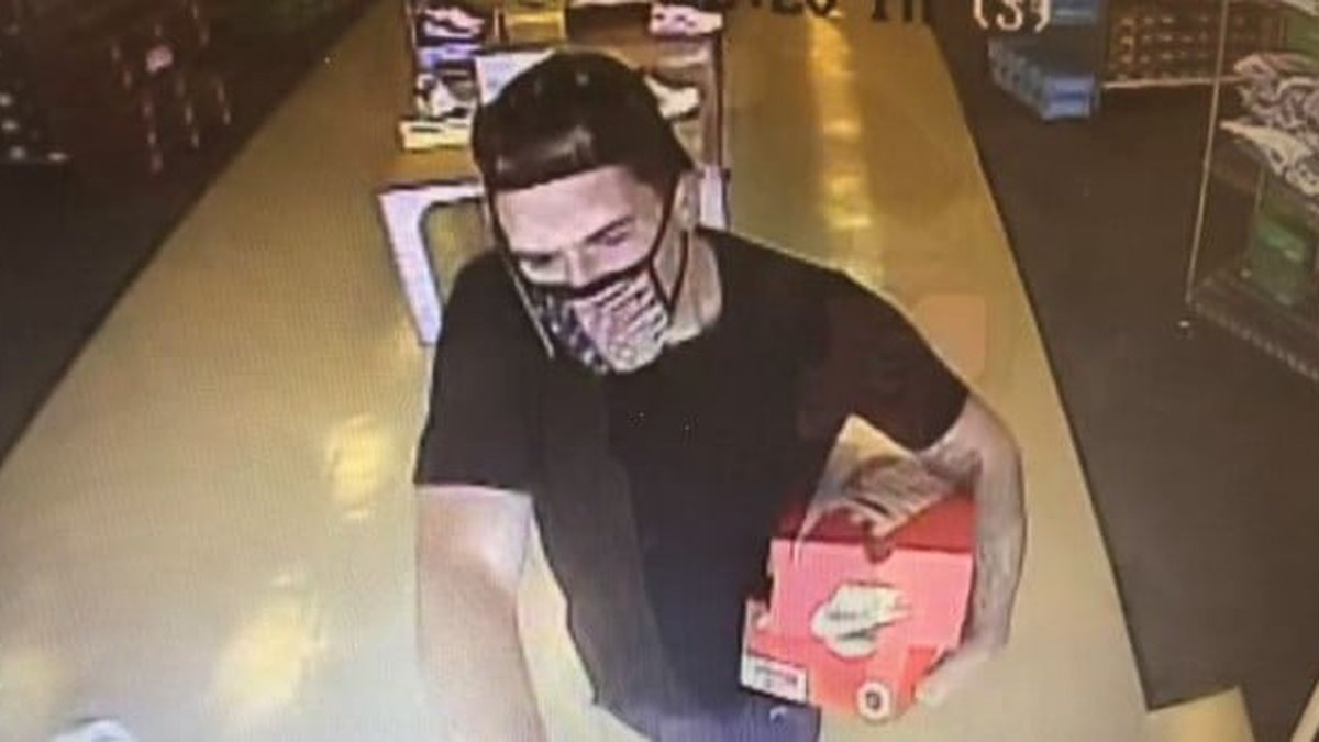 The theft happened on September 10th at the Shoe Carnival on Western Boulevard.