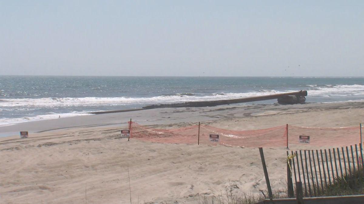 Emerald Isle's beach re-nourishment project continues.