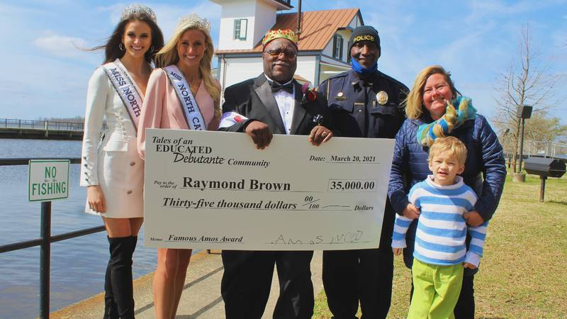 Raymond Brown is a custodian who was celebrated on Saturday with a special award by White Oak...