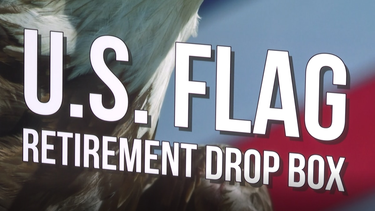 Jacksonville city hall now has a place for people to drop off old, damaged American flags.