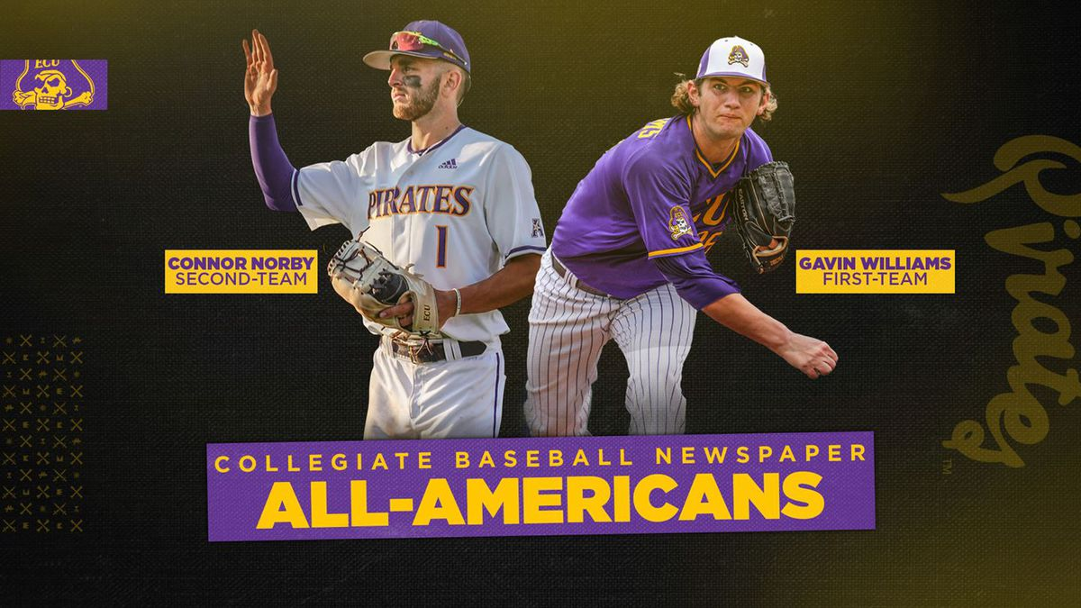 Norby and Williams - ECU All-Americans