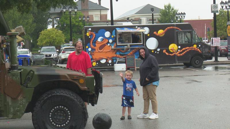 The rain didn't keep people away from participating in National Night Out.