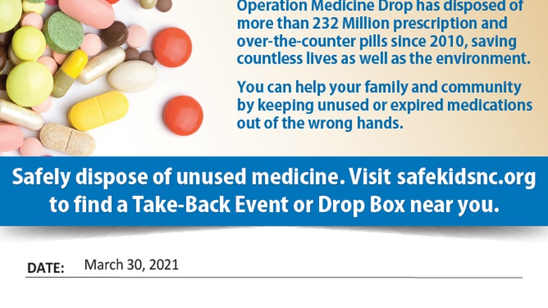 Craven County Sheriff's Office promotes Operation Medicine Drop