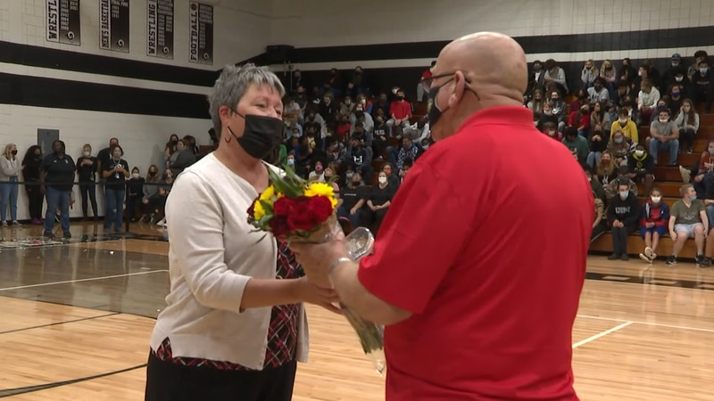 Havelock High School Principal Stacie Friebel wins Principal of the Year in Craven County.