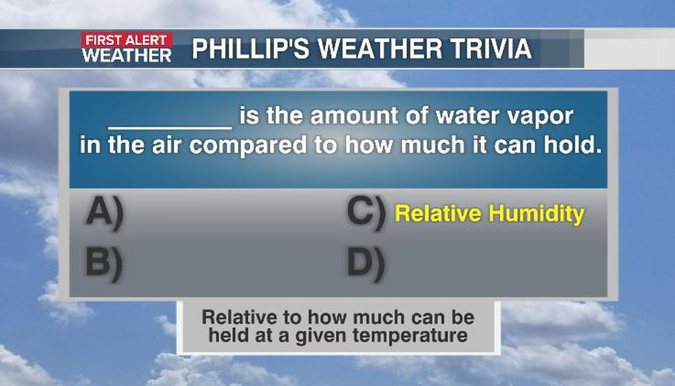 Phillip's Weather Trivia Answer Aug 24