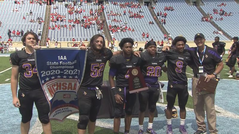 Tarboro football wins 2021 1AA state title