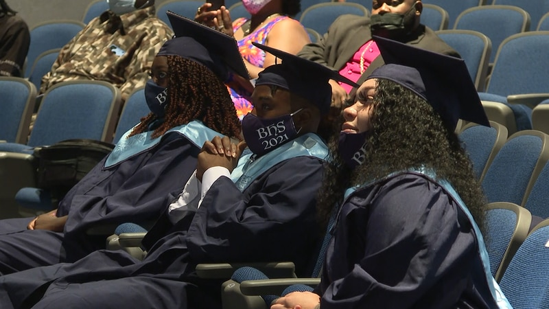 10 students graduated from Bertie County High School on July, 19, 2021.